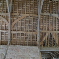 barn, roof trusses, green oak, timber frame, restoration