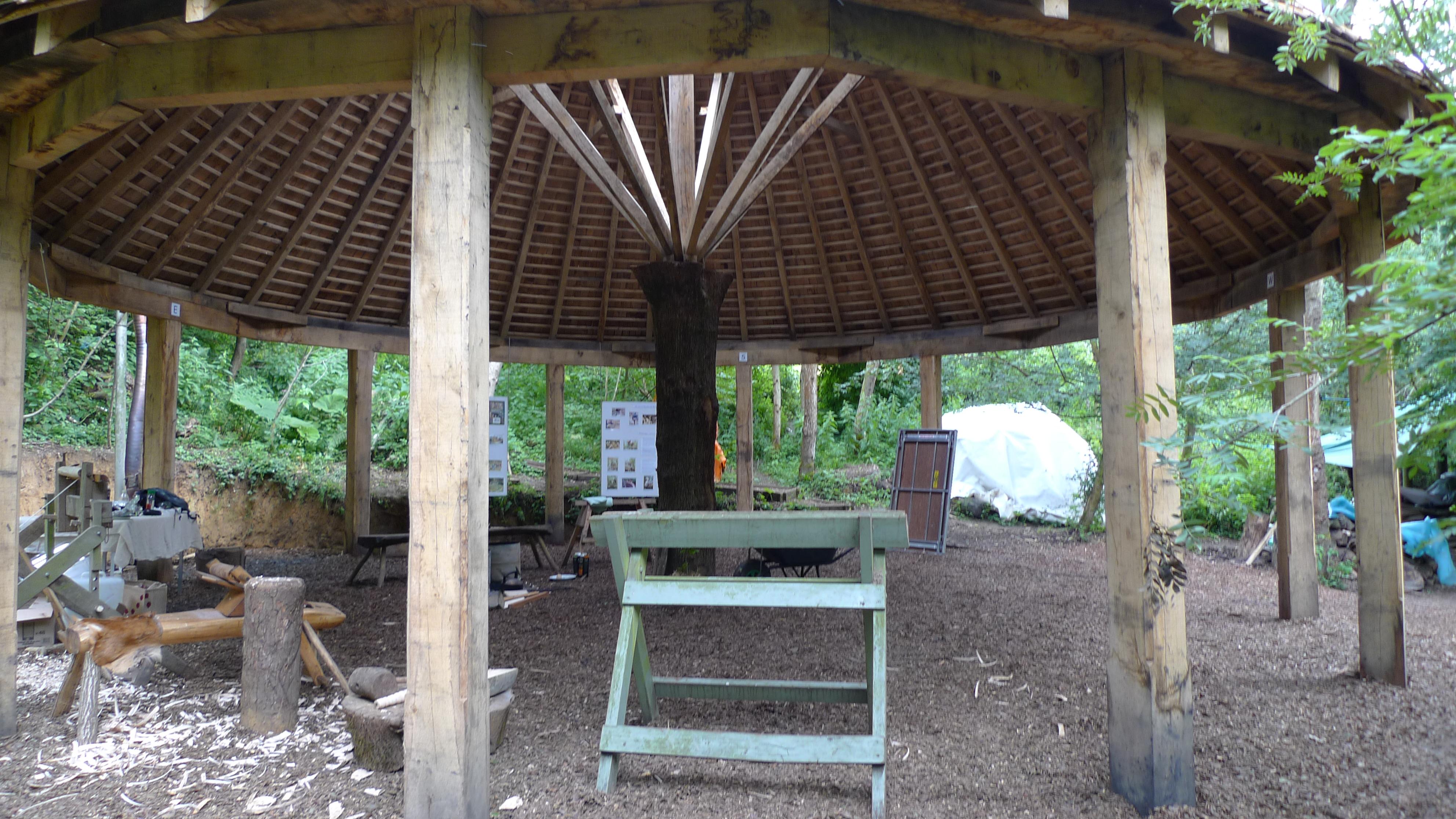 Ruskin Mill Green Woodworking Shelter Oak Timber Framing