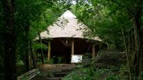 green oak, timber frame, garden structures, oak building, green woodworking, oak frame, Ruskin Mill