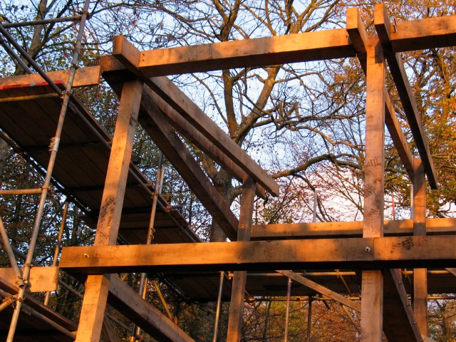Moonshine, extension, timber frame, oak frame, green oak, Piers Taylor architect