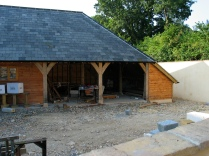 timber frame, France, oak frame, green oak