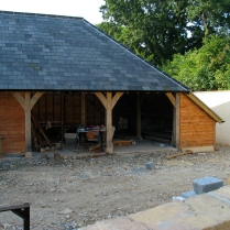 timber frame, France, oak frame, green oak