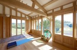 green oak, timber frame, carpenter, oak frame, France, roof truss