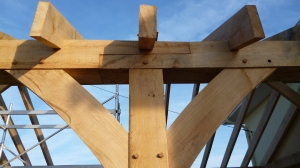 timber frames, timber framing, France, timber framed buildings, oak frame, garage