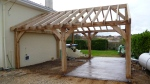 oak garage, timber framed garage, carpenter, green oak, car port, Dordogne, France
