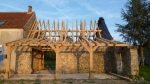 barn conversion, timber framed roof, oak frame, traditional timber frame, carpenter, Dordogne, France
