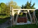 pergola, oak frame, timber frame, timber framing, carpenter, Dordogne, France
