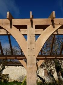 oak frame, timber frame, carpentry, carpenter, maison colombage, veranda, oak veranda, Dordogne, France, traditional oak frame