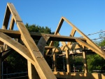 timber frame, carpenter, oak frame, roof truss, France