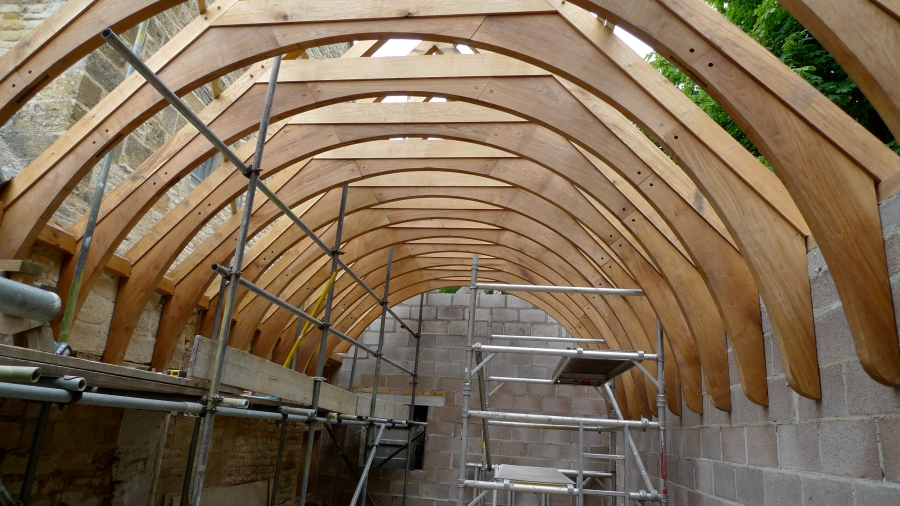 Temple Guiting Roof Frame Oak Timber Framing Amp Carpentry