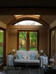charpente traditionnelle, agrandissement, chêne vert, ferme, chêne, ossature, salon