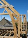 oak, green oak, timber frame, traditional, timber roof frame, roof truss, oak framed building