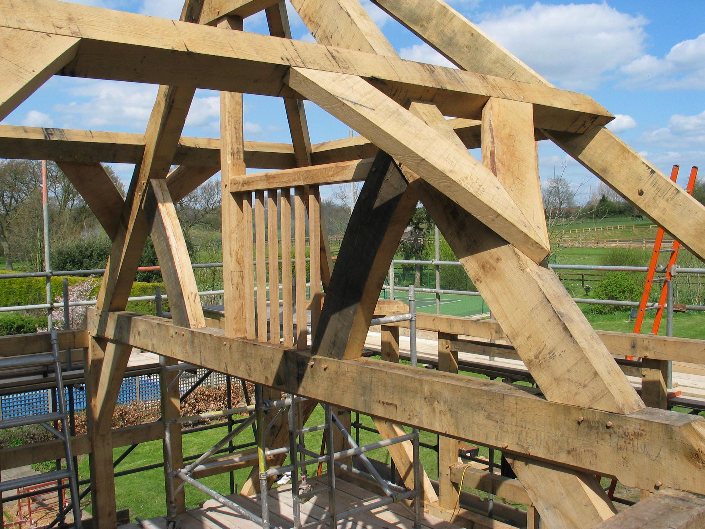 charpente de toit oak timber framing carpentry in france. Black Bedroom Furniture Sets. Home Design Ideas
