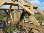 charpente de toit, charpente traditionnelle, ferme, chêne, chêne vert, toiture, France, Dordogne