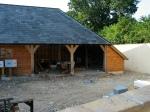 garage, chêne vert, charpente en chêne, charpente traditionnelle, Dordogne, France