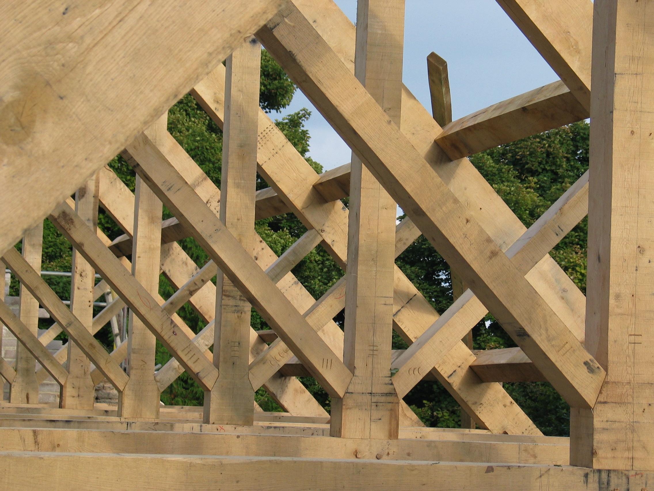 Timber Roof Frames Oak Timber Framing Amp Carpentry In France