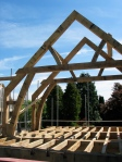 oak, green oak, timber frame, traditional, timber roof frame, roof truss, oak framed building