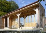 charpente traditionnelle, charpente en chêne, chêne vert, grange en chêne, France