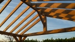 abri-voiture, charpente traditionnelle, chêne vert, ossature en bois, garage en chêne