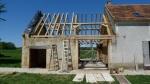 charpente de toit, charpente traditionnelle, ferme, chêne, chêne vert, toiture, aménagements, France, Dordogne