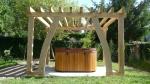 pergola, chêne vert, charpente traditionnelle, liens ceintrés, Dordogne, France