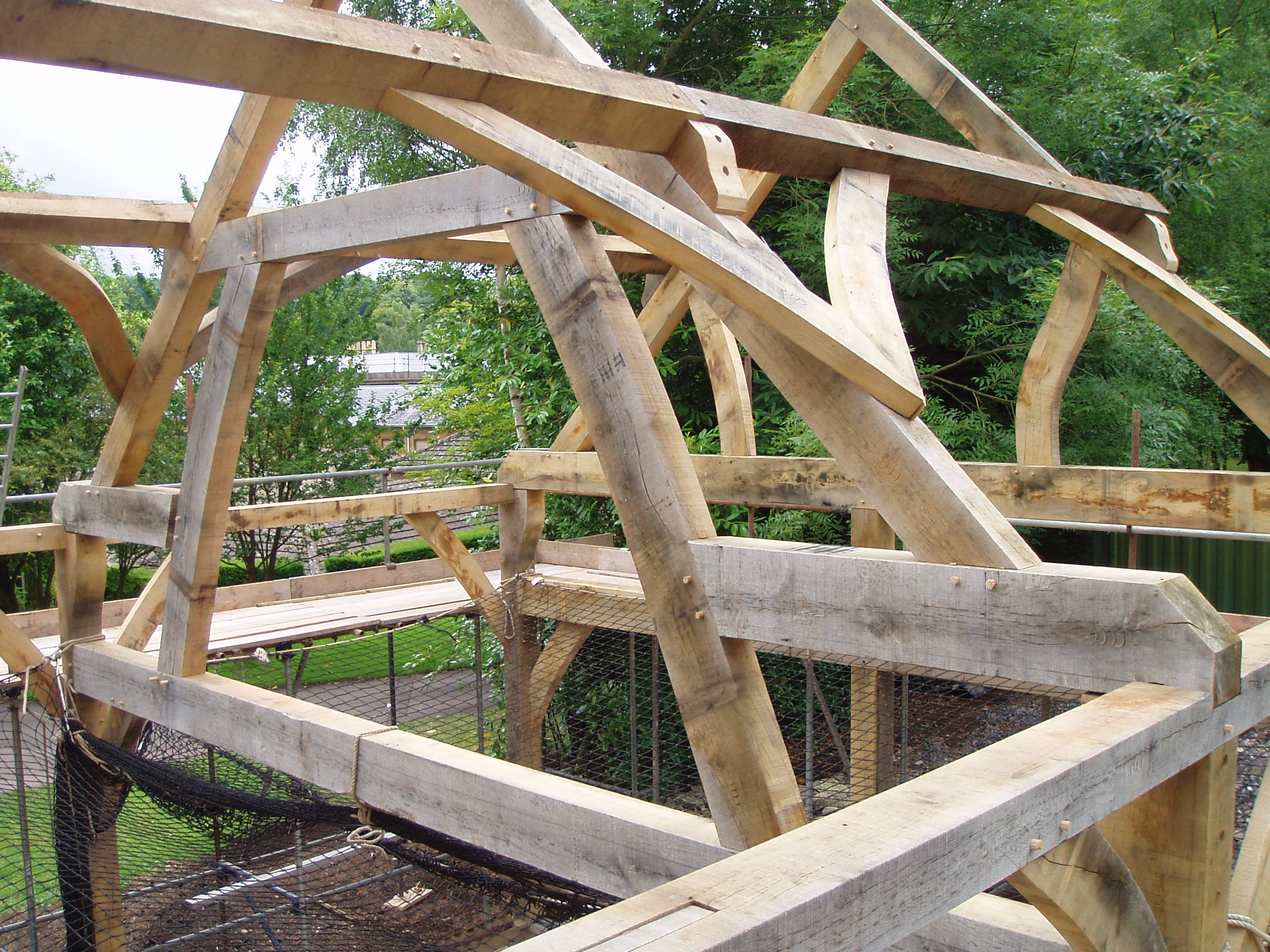 Timber Roof Frames Oak Timber Framing Amp Carpentry In France