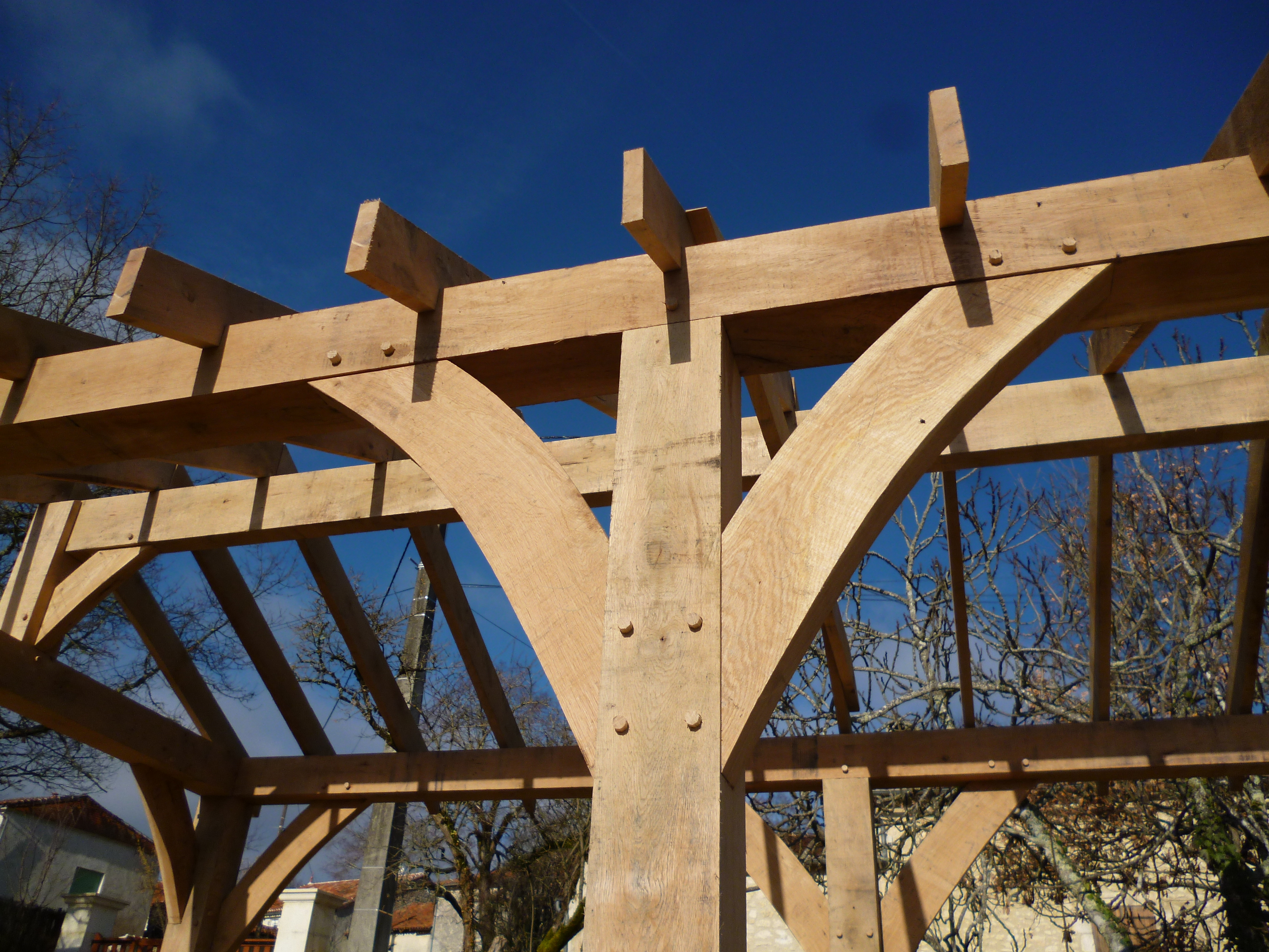 Oak Veranda Oak Timber Framing Amp Carpentry In France