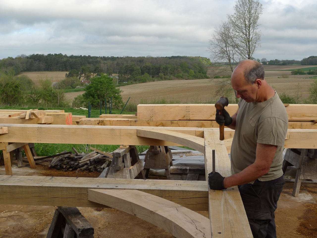 Astounding House Frames Oak Timber Framing Carpentry In France Beutiful Home Inspiration Papxelindsey Bellcom