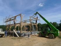 oak timber frame, timber frame house, timber framed house, oak buildings France, timber buildings France