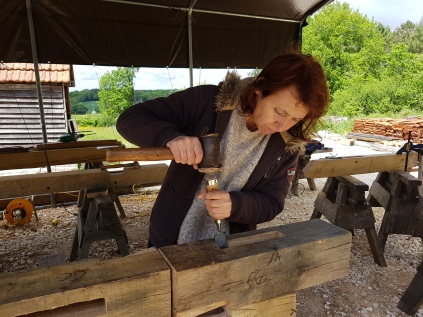 stage de charpente traditionnelle; timber framing courses; France