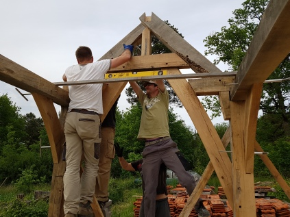 stage de charpente traditionnelle; timber framing course; france