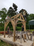 stage de charpente traditionnelle; timber framing course, france