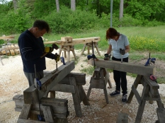 stage de charpente traditionnelle;timberframing course;france