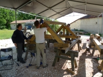 stage de charpente traditionnelle;timber framing course; france